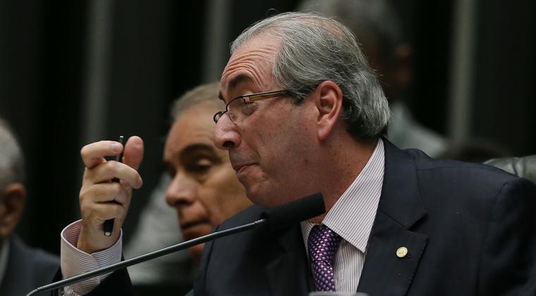 Brasília- DF 26-04-2016   Presidente da câmara dos deputados, Eduardo Cunha durante sessão da câmara. Lula Marques/Agência PT