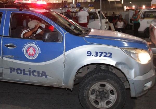 Policiamento garante segurança de torcedoras na Arena Fonte Nova, no jogo entre Bahia x Ceará Foto: Mateus Pereira/GOVBA
